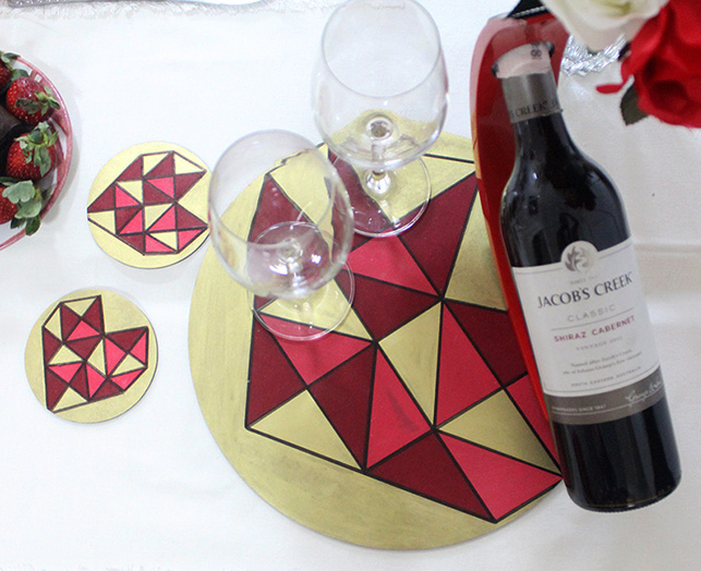 table decor place mats and coasters