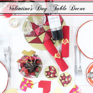 Geometric Heart Valentines Day Table Decorations!