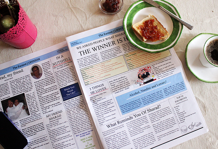 personalised newspaper pages