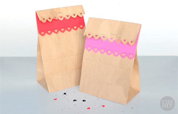 DIY dressed brown paper bags
