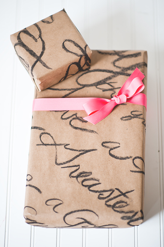 personalised valentines gift wrapping