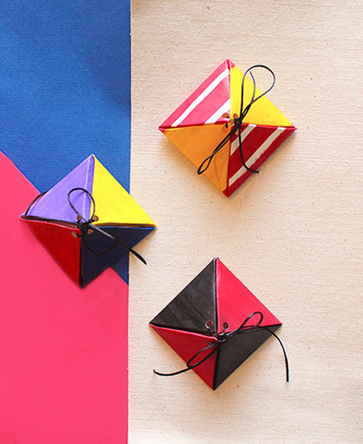triangle paper craft boxes