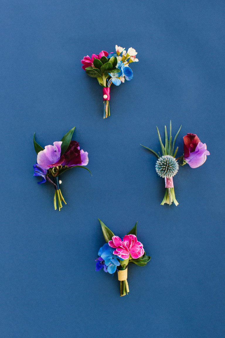 diy wall floral pins
