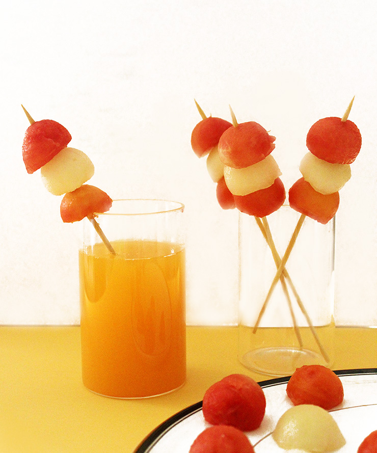 Easy To Make Fruit Kabob Stirrers