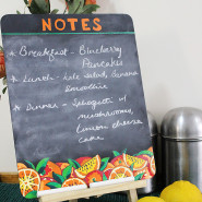 How to make A Decorative Kitchen Chalkboard!