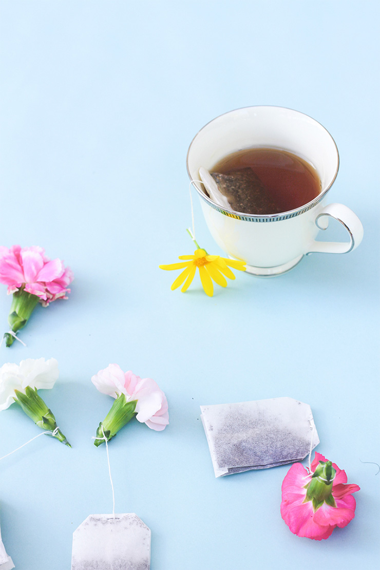 DIY Flower Tea Bags