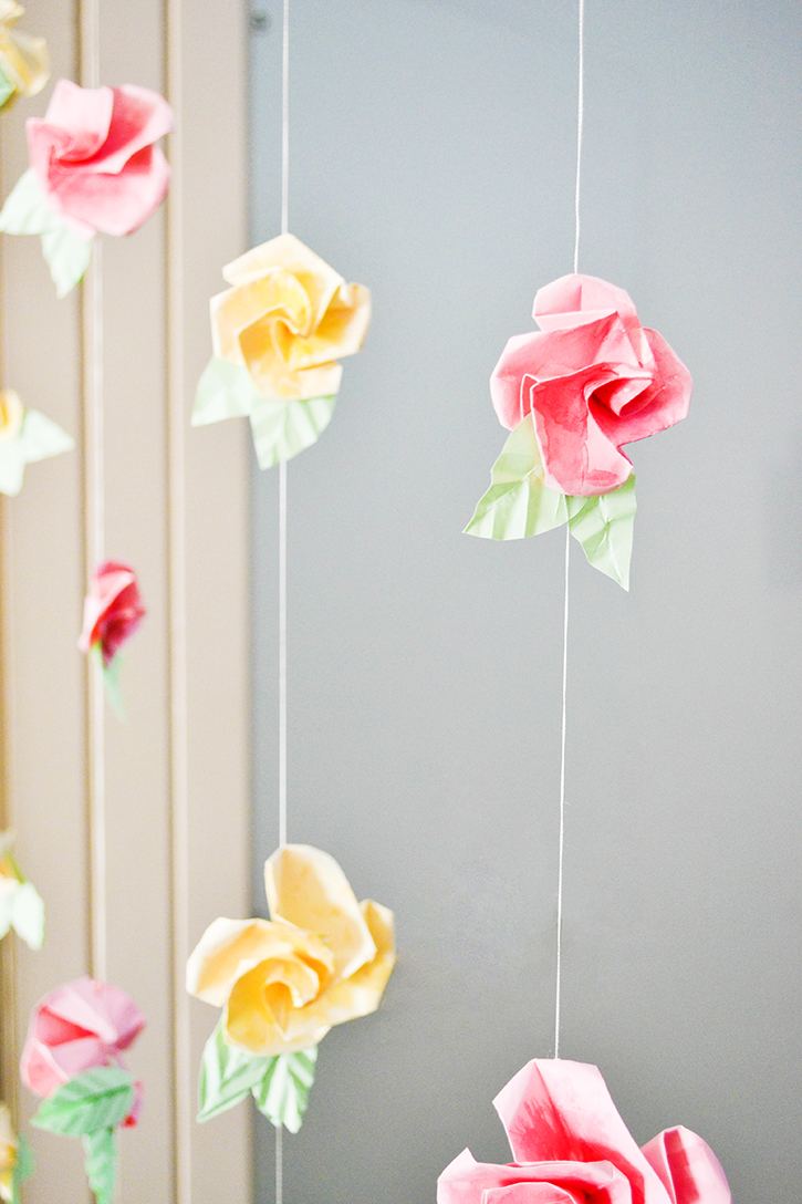 origami flower wall decorations