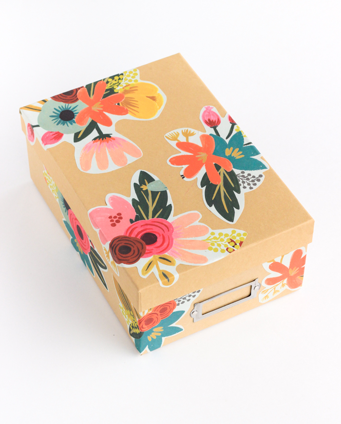storage box diy decoupage