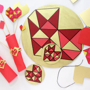 DIY Geometric Heart Dinner Set