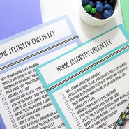 Printable Home Security Checklist while travelling!