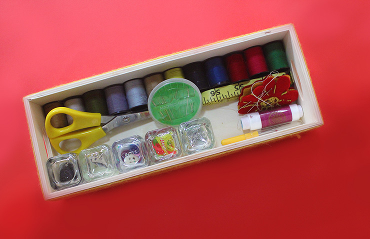 how to make a sewing kit box
