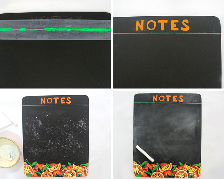kitchen chalkboard notes