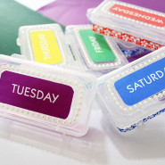 Make a Set of Medication Pill Box Containers!