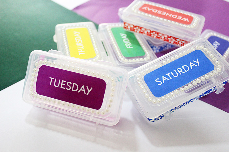 DIY Medication Pill Box Containers The Craftables