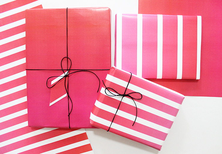 free pink wrapping paper print designs