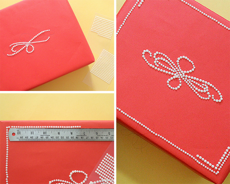steps for pearl gift wrapping
