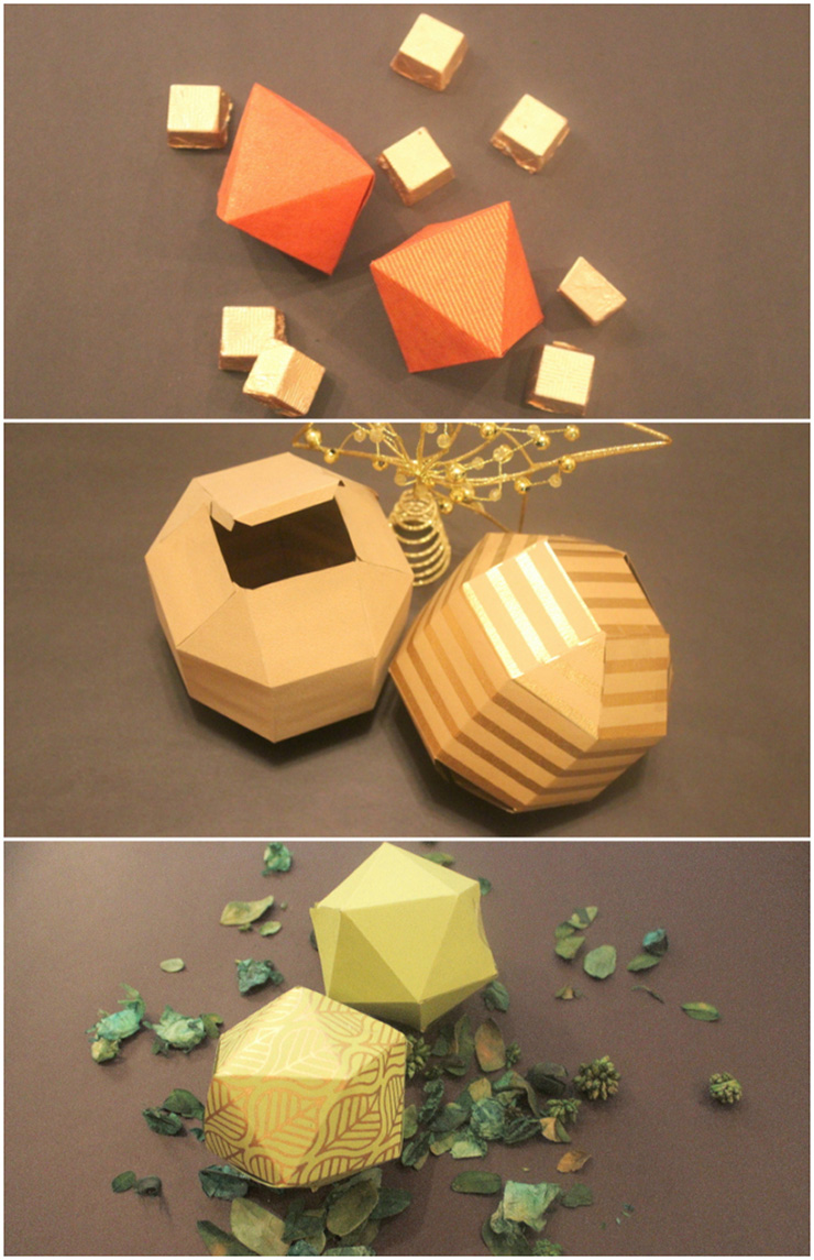 quirky paper boxes