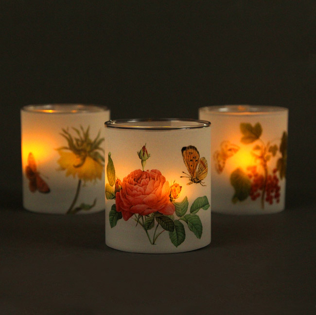botanical flower candles