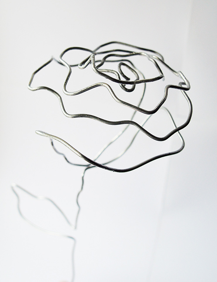 diy wire rose