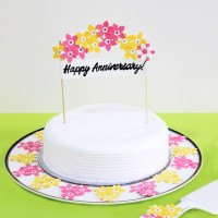 Anniversary floral cake stand