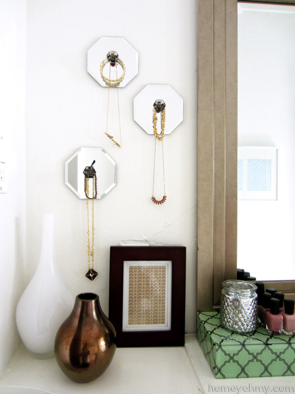 diy jewelry hanger mirror