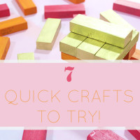 DIY Quick Crafts with paint roundup