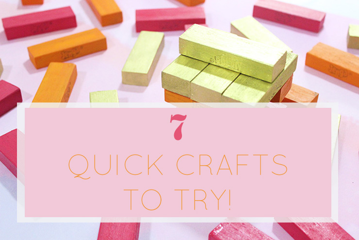 quick craft painting ideas