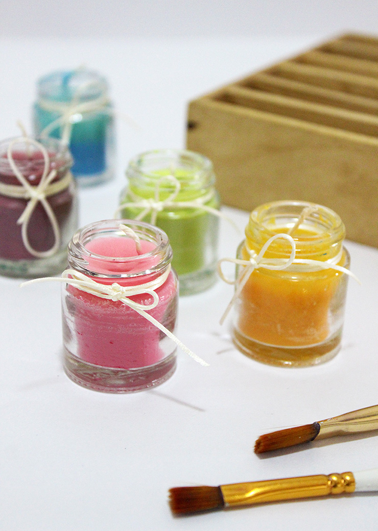 DIY Scented Candles Paint Bottles
