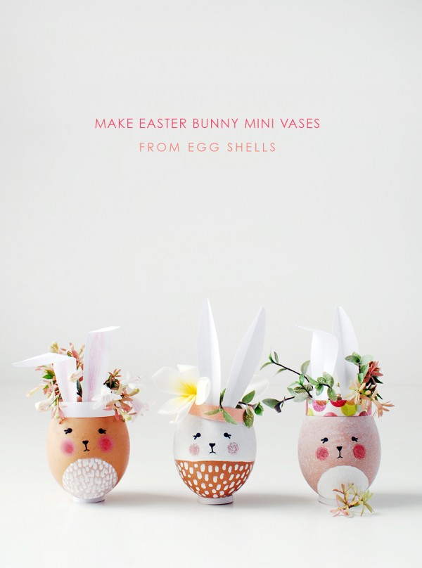 Easter Bunny Vase From Eggs