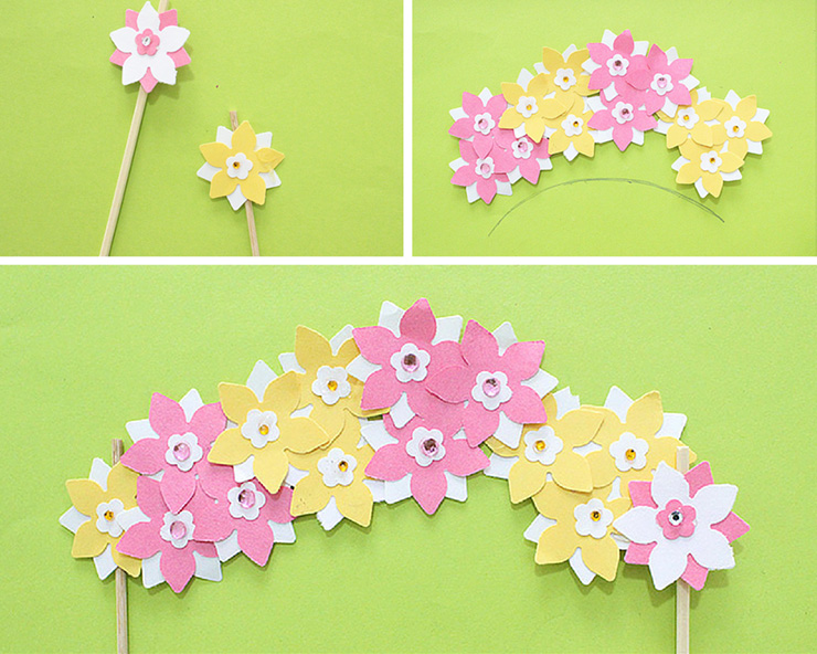 floral paper craft for cake