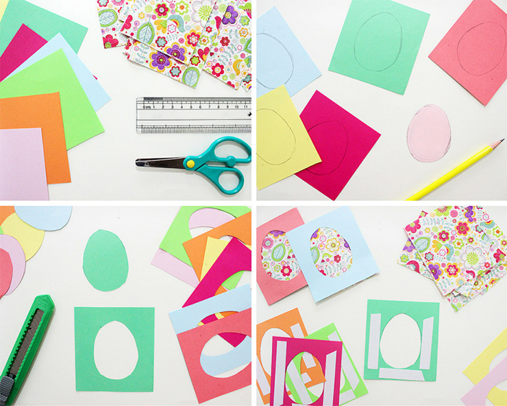 How to make an easter bunting