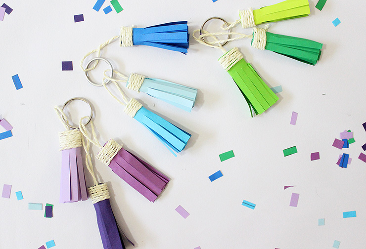 making tassel keychains at home