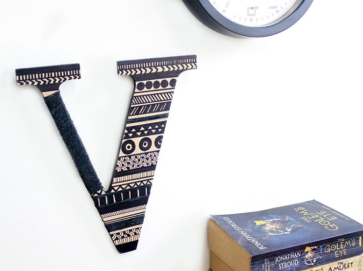 aztec design letters for wall decor
