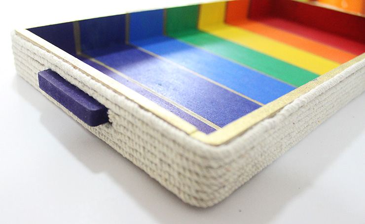 rainbow tray decoration