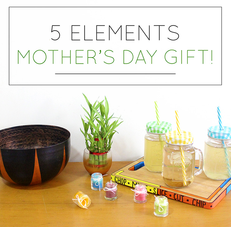 5 elements DIY mother's day gift idea