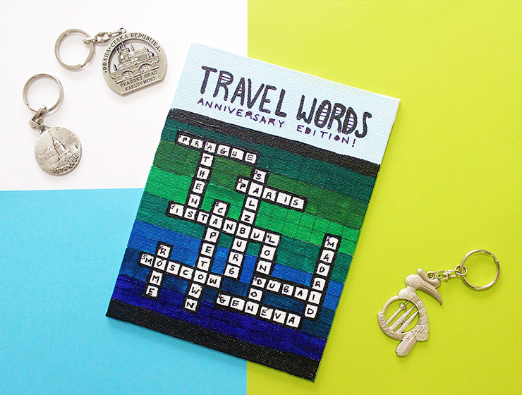 Personalised Crossword Puzzle with key chain