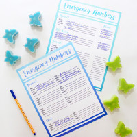 DIY Emergency Contact Lists Printables