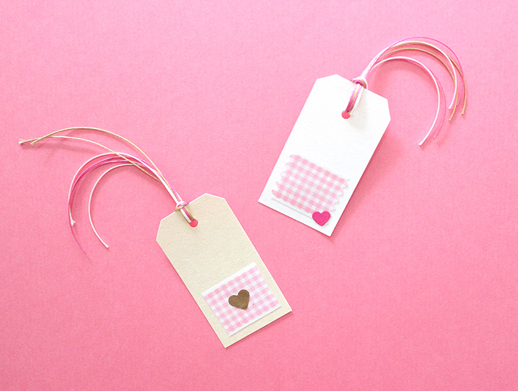 pink gift tag ideas