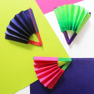 Quick Craft: How to make a Paper Fan with Blow Pens!
