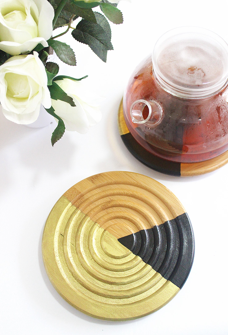 How to make color block hot plates