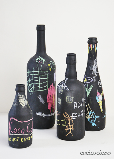 Upcycled Wine Bottles