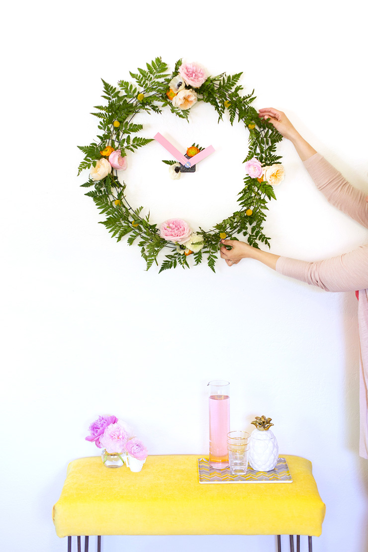 DIYs To Try List #1 // Floral Clock by Lovely Indeed