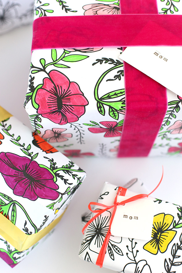 DIYs To Try List #1 // Colouring wrapping paper by Say Yes