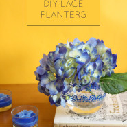 10 Minute DIY Lace Planters