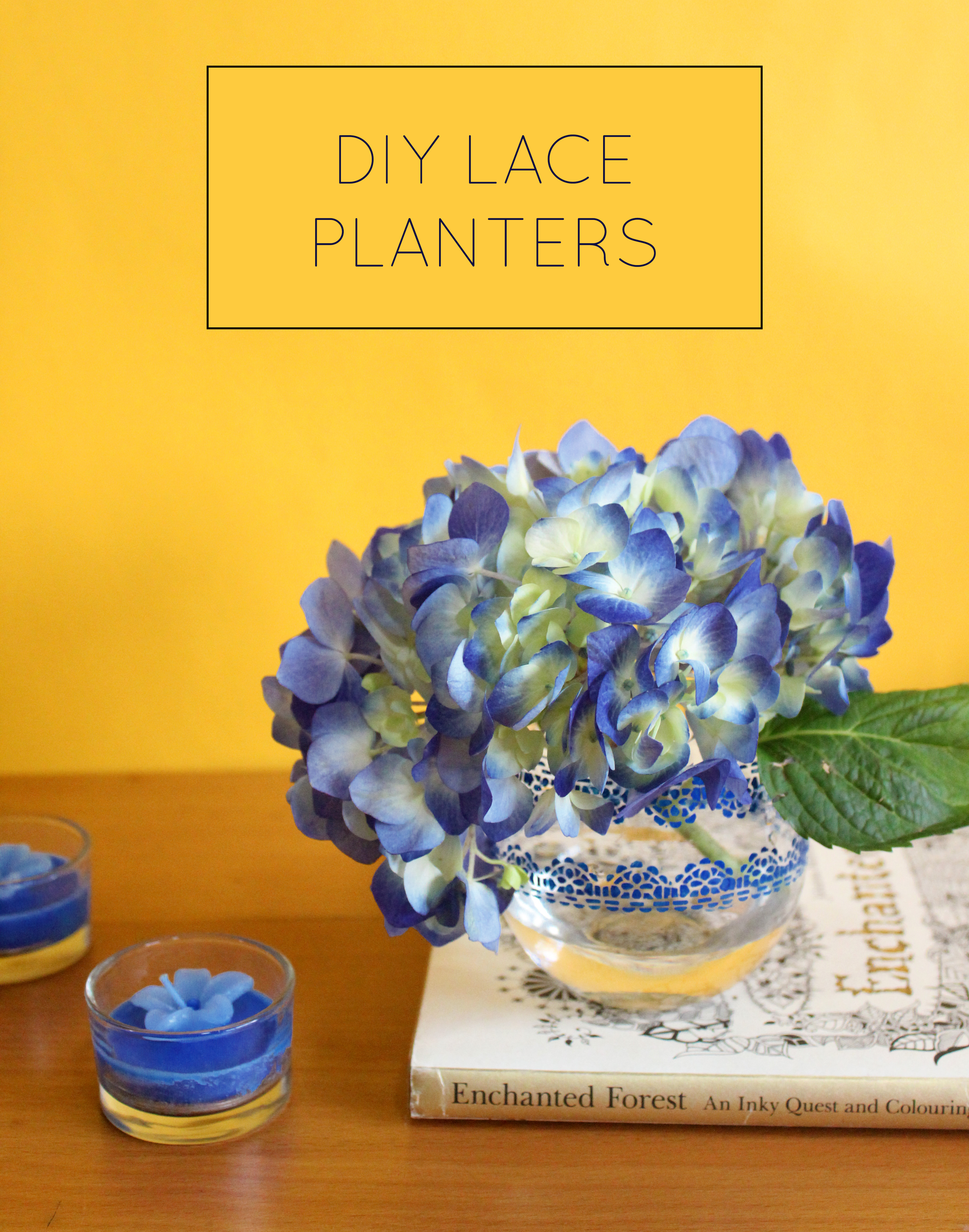 How to make DIY Lace Planters