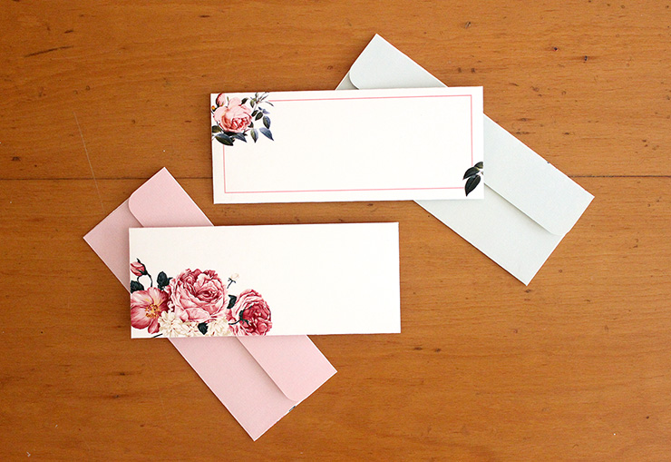 handmade customised envelopes