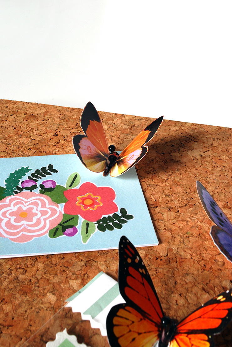 printable butterfly push pins