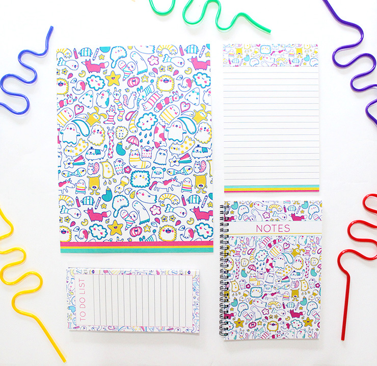 cute print stationery