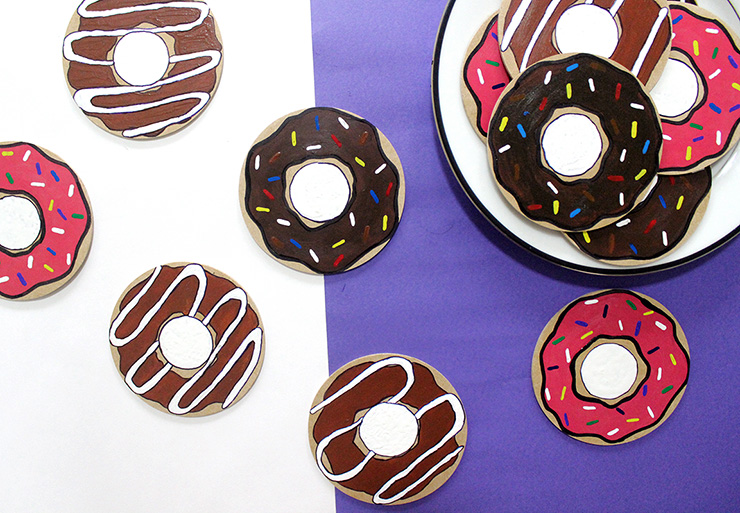 do it yourself donut coasters