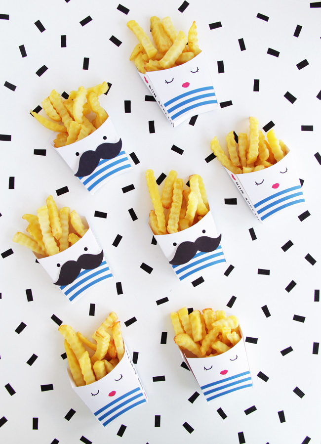 printable french fries boxes